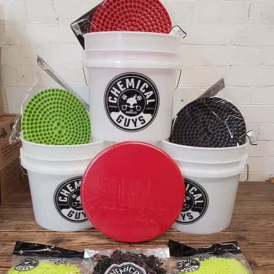Chemical Guys Detailing Buckets - 3 Bucket Wash Kit