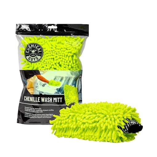 Chemical Guys Chenille Microfibre Wash Mitt Lime - New Style