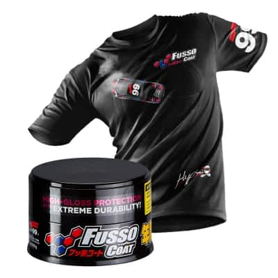 Soft99 Fusso Coat 12 Months Wax Dark 200g with FREE T. Shirt
