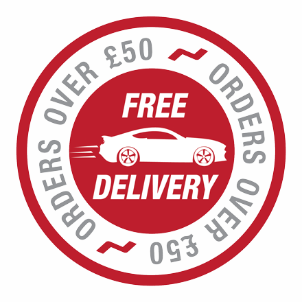 Free Delivery Over £50 Transparent