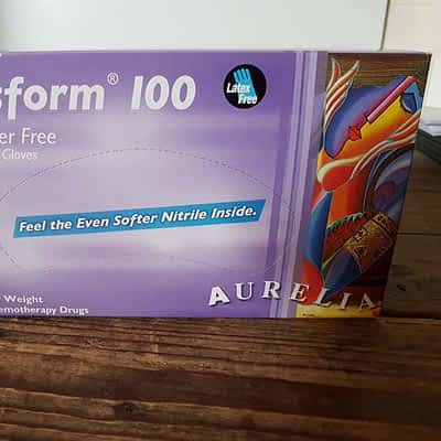 Aurelia Transform Blue Nitrile Gloves - Box of 100